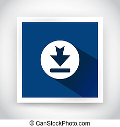 Icon of download for web and mobile applications