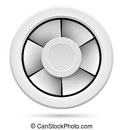 Electric fan - Icon of Electric fan. Illustration on white...