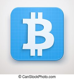 Icon of financial currency Bitcoin