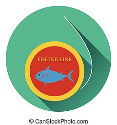 Icon of fishing line