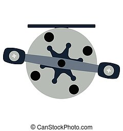 Icon of Fishing reel . Flat color design. Vector...