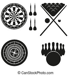 icon of games for leisure black silhouette vector...