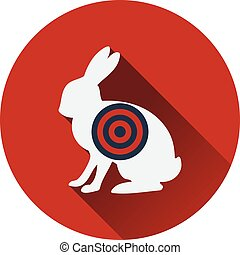 Icon of hare silhouette with target