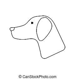 Icon of hinting dog had