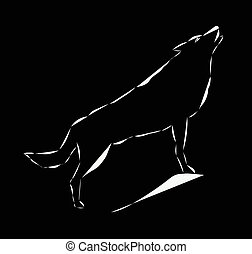 Icon of howling wolf.