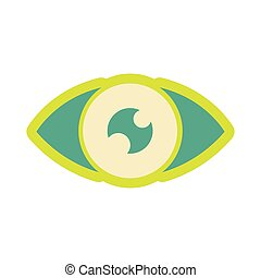 Icon of human eye in flat style