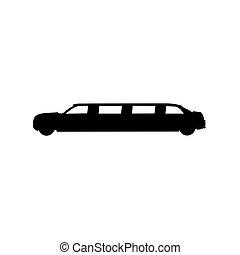 icon of limousine. vector illustration
