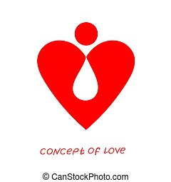 Icon of love. Vector illustration, metaphor of donation