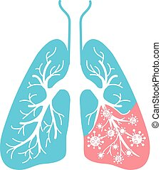 icon of lung disease bacteria