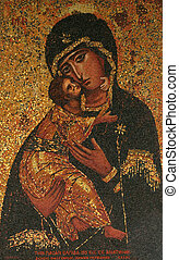 Icon of Madonna. Gift from Greece to Basilica of the...
