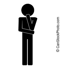icon of man think thinking