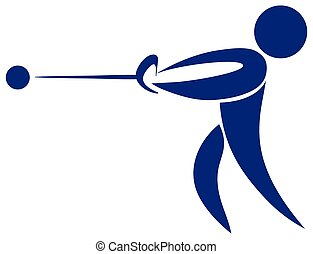 Icon of man with hammer throwing