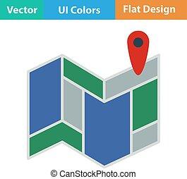 Icon of map scheme