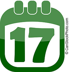 icon of March 17 in a calendar