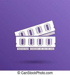 icon of memory chip RAM hardware rom power