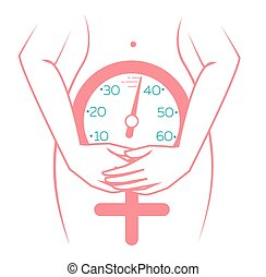icon of menopause - concept of menopause in the form of a...
