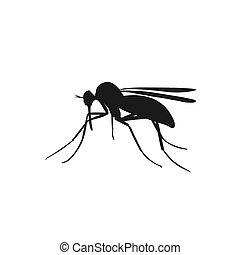 icon of mosquito, vector illustration