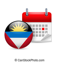 Icon of National Day in Antigua and Barbuda - Calendar and...
