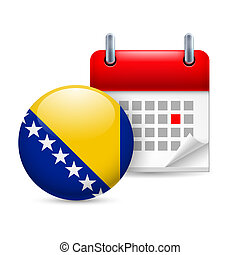 Icon of National Day in Bosnia and Herzegovina - Calendar...