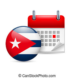Icon of National Day in Cuba
