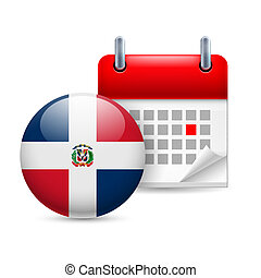 Icon of National Day in Dominican Republic