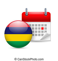 Icon of National Day in Mauritius