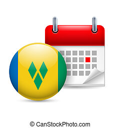 Icon of National Day in Saint Vincent and the Grenadines -...