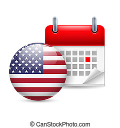 Icon of National Day in USA
