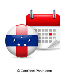 Icon of National Day on Netherlands Antilles - Calendar and ...