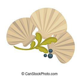 Icon of oysters. Sea food symbol shellfish ocean