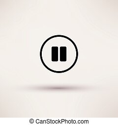 Icon of pause break Isolated Vector illustration.