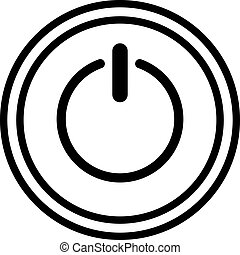 Icon of power button