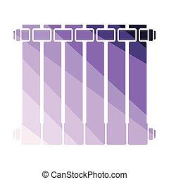 Icon of Radiator. Flat color design. Vector illustration.