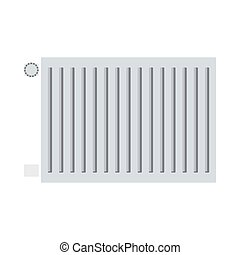 Icon Of Radiator. Flat Color Design. Vector Illustration.