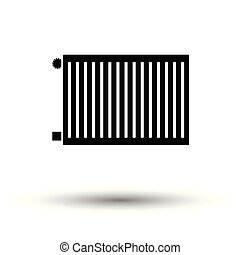 Icon of Radiator. White background with shadow design....