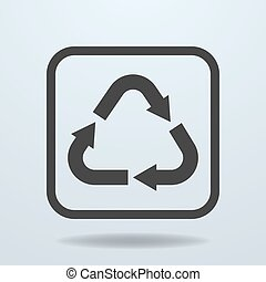 Icon of Recycle sign, symbol