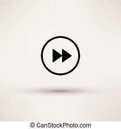 Icon of rewind Web Isolated Vector illustration.