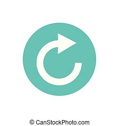 icon of rotation arrow in color circle