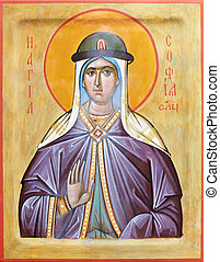 Icon of saint Sophia of Slutsk - Orthodox religious Icon of...
