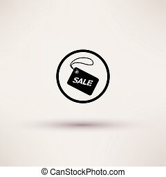 Icon of sale tag Isolated Vector illustration.
