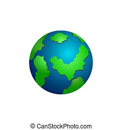Icon of school globe on white background.