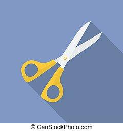 Icon of Scissors. Flat style