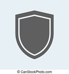 Icon of shield. Defense, protection or safety symbol, vector sign