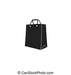 icon of shopping bag. vector illustration