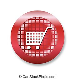 Icon of shopping cart for web