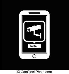 icon of smart phone mobile security application illustration design
