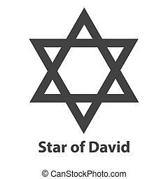 Icon of Star of David symbol. Judaism religion sign