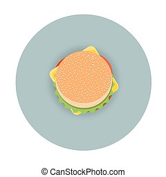 Icon of stylized hamburger -  top view