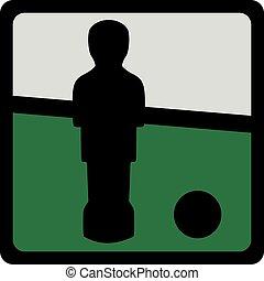 Icon of table football figure