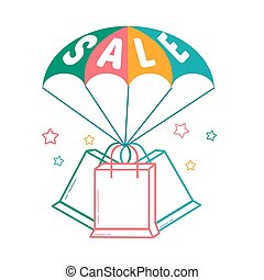 Icon of the parachute  sale